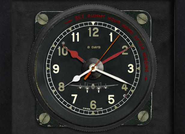Lancaster Aircraft Clock