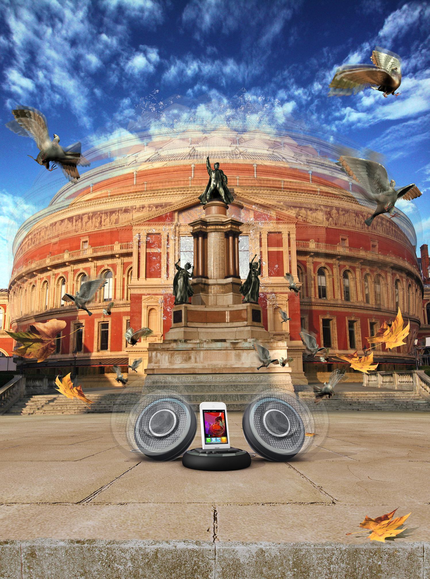 Albert Hall Speaker Jive / New Electronics Magazine