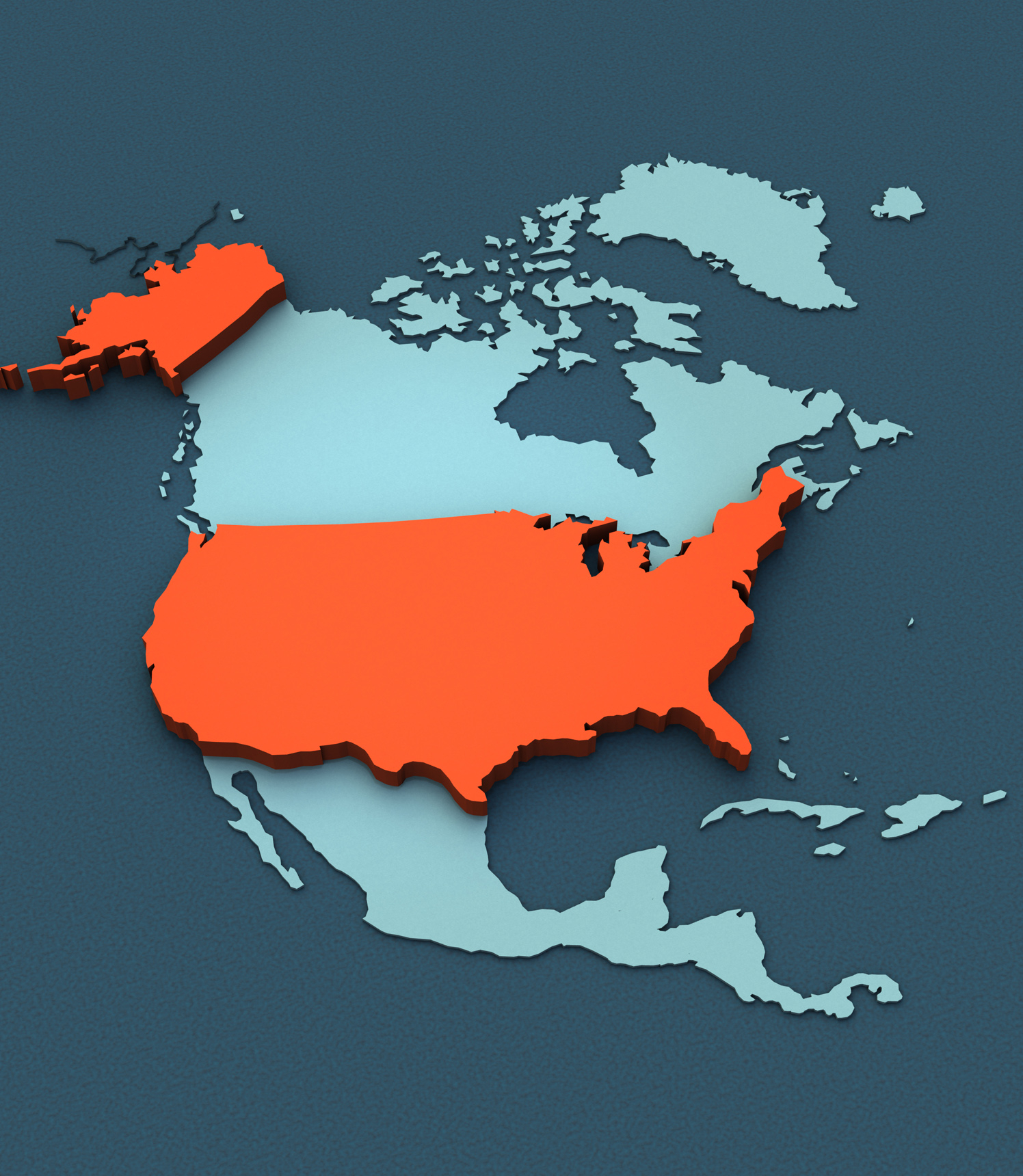 3D Map North America