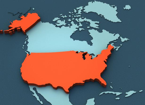 3D Map North America