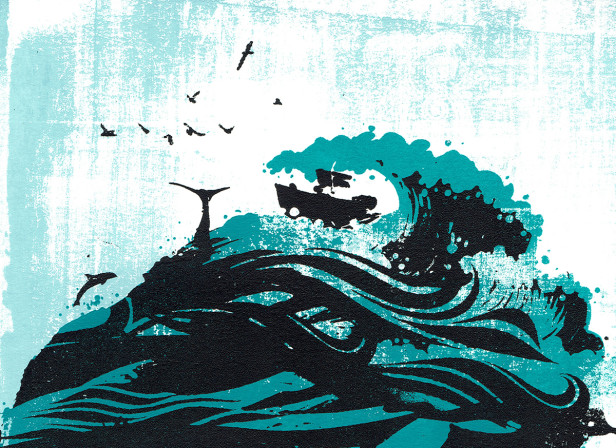 dreaming_of_the_sea_waves_boat_hair_screenprint_katie_edwards_illustration_art.jpg