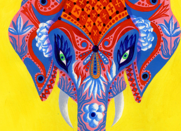 Indian Elephant Art