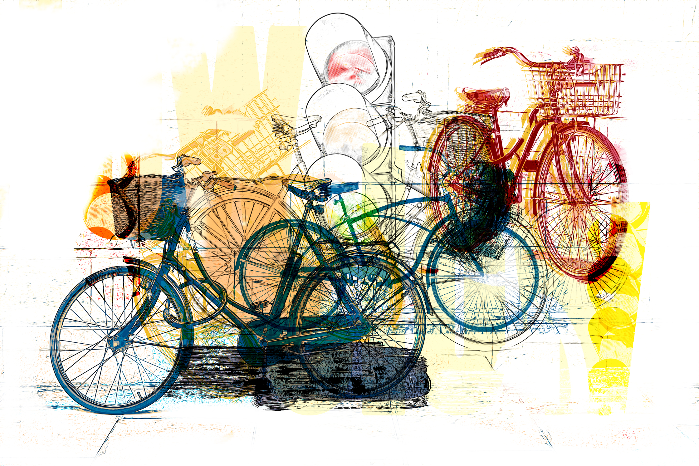 Europe and bikes editorial illustration .jpg