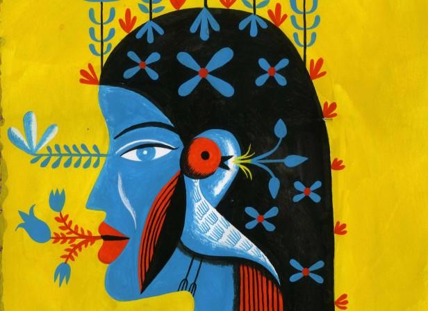 Woman With Bird 2.JPG
