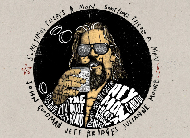 the Big Lebowski Charity Poster