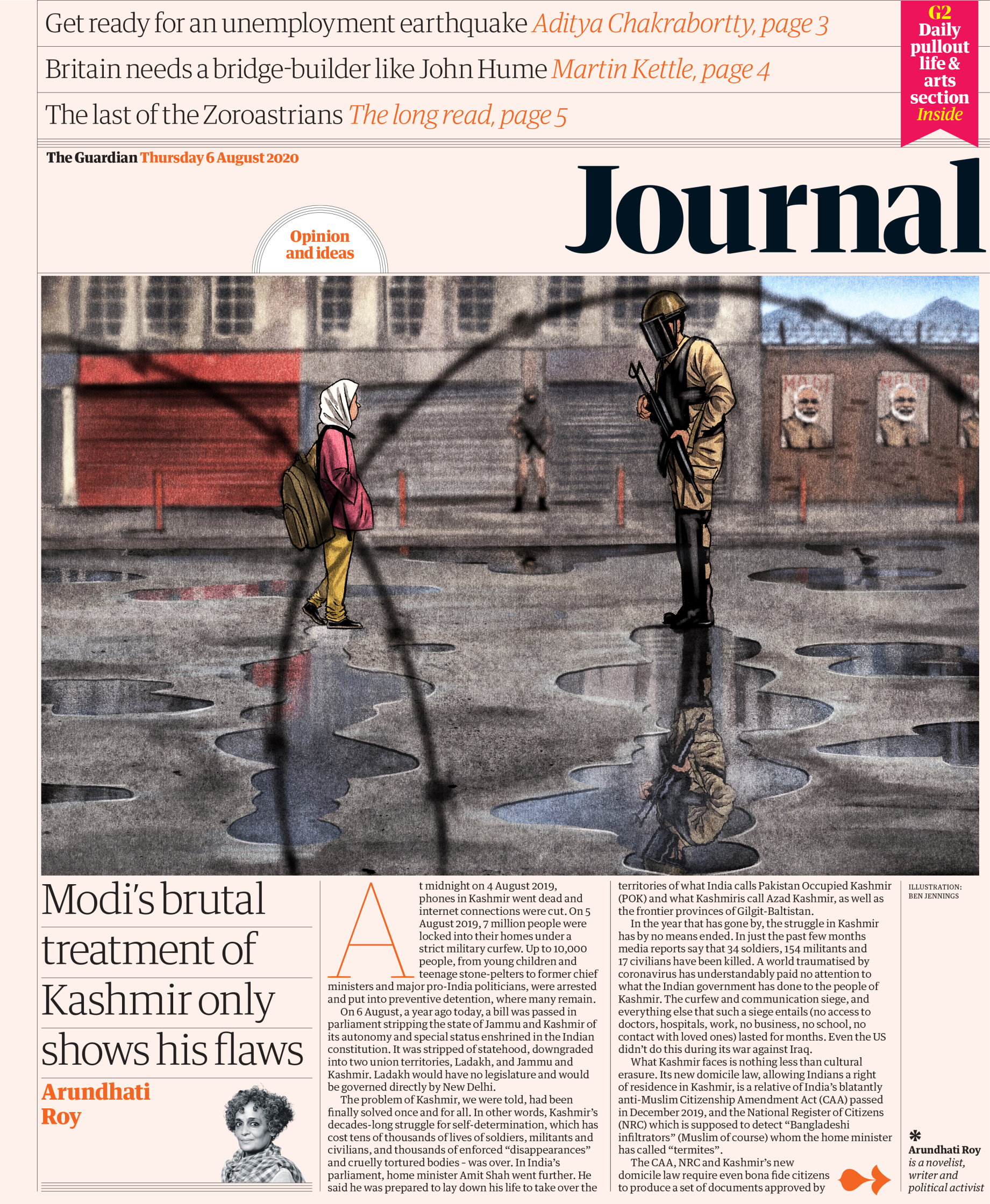 The Guardian � Journal front � 6 August 2020.jpg