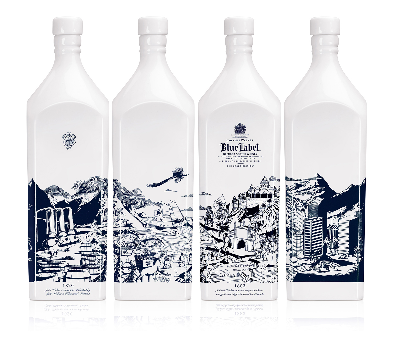 Johnnie Walker Blue Label / Mumbai Bottle