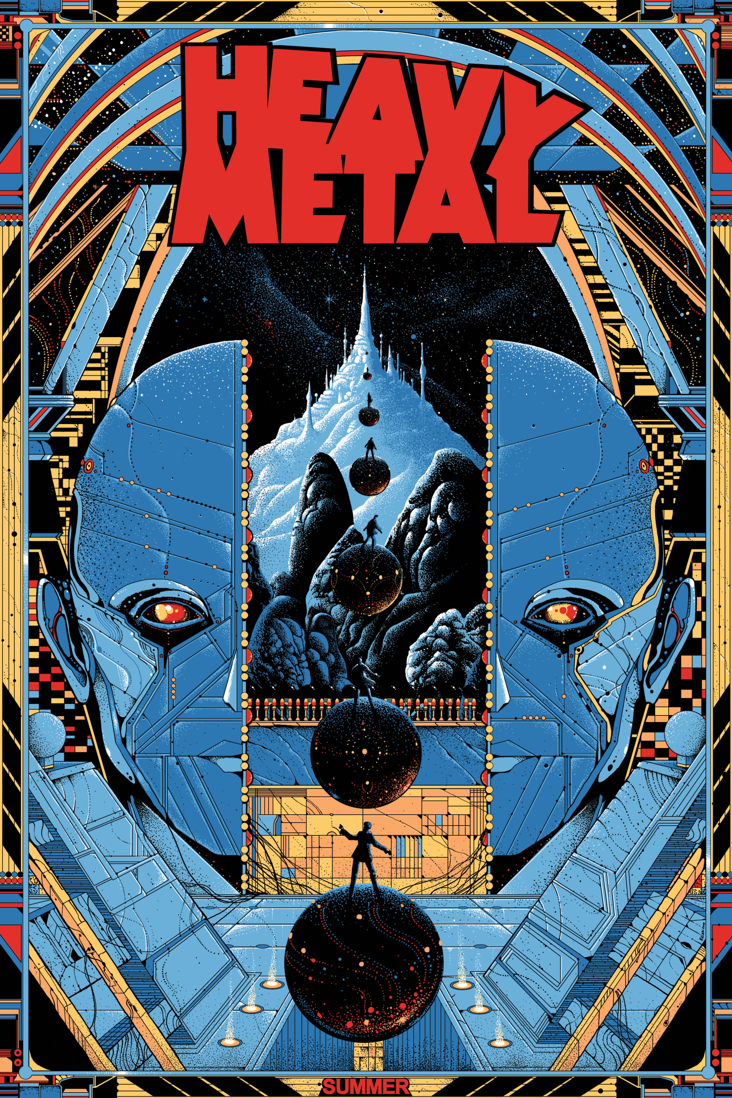 Mondo Heavy Metal Magazine Promo Screenprint Poster