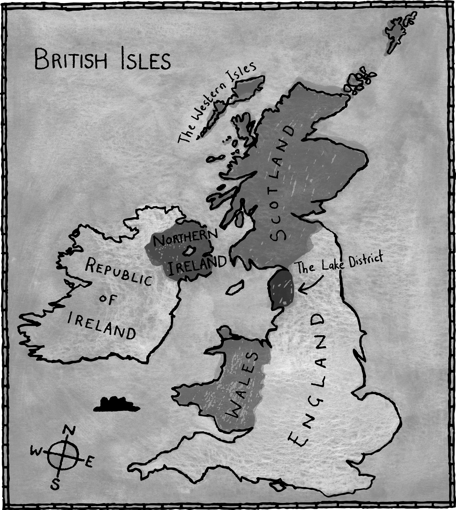 The British Isles Map