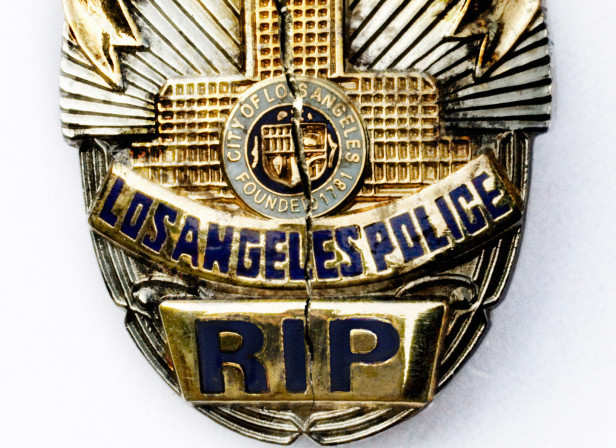 LAPD Badge Cracked / The Guide Magazine