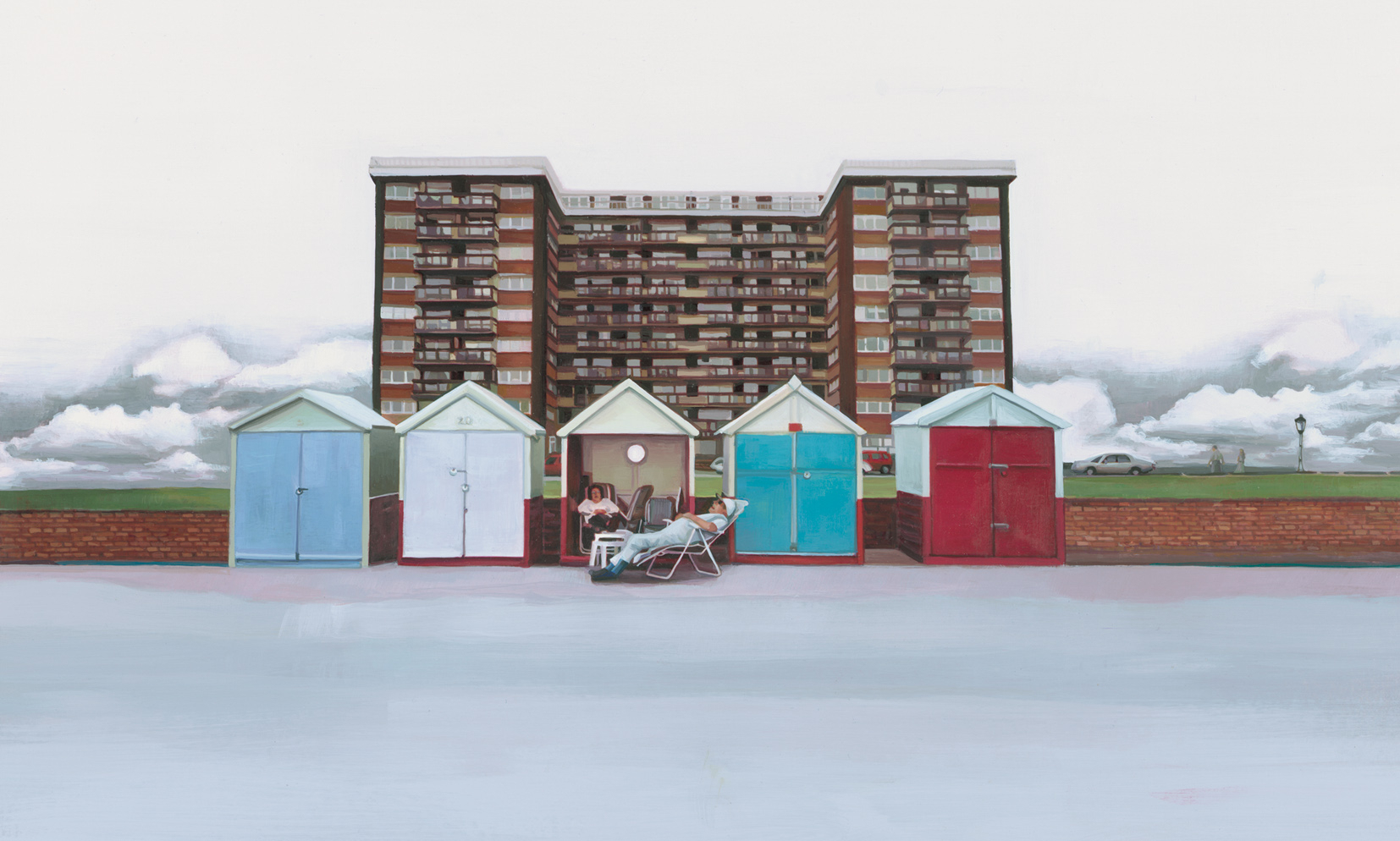Brighton Beach Huts AOI Illustration Award Winner