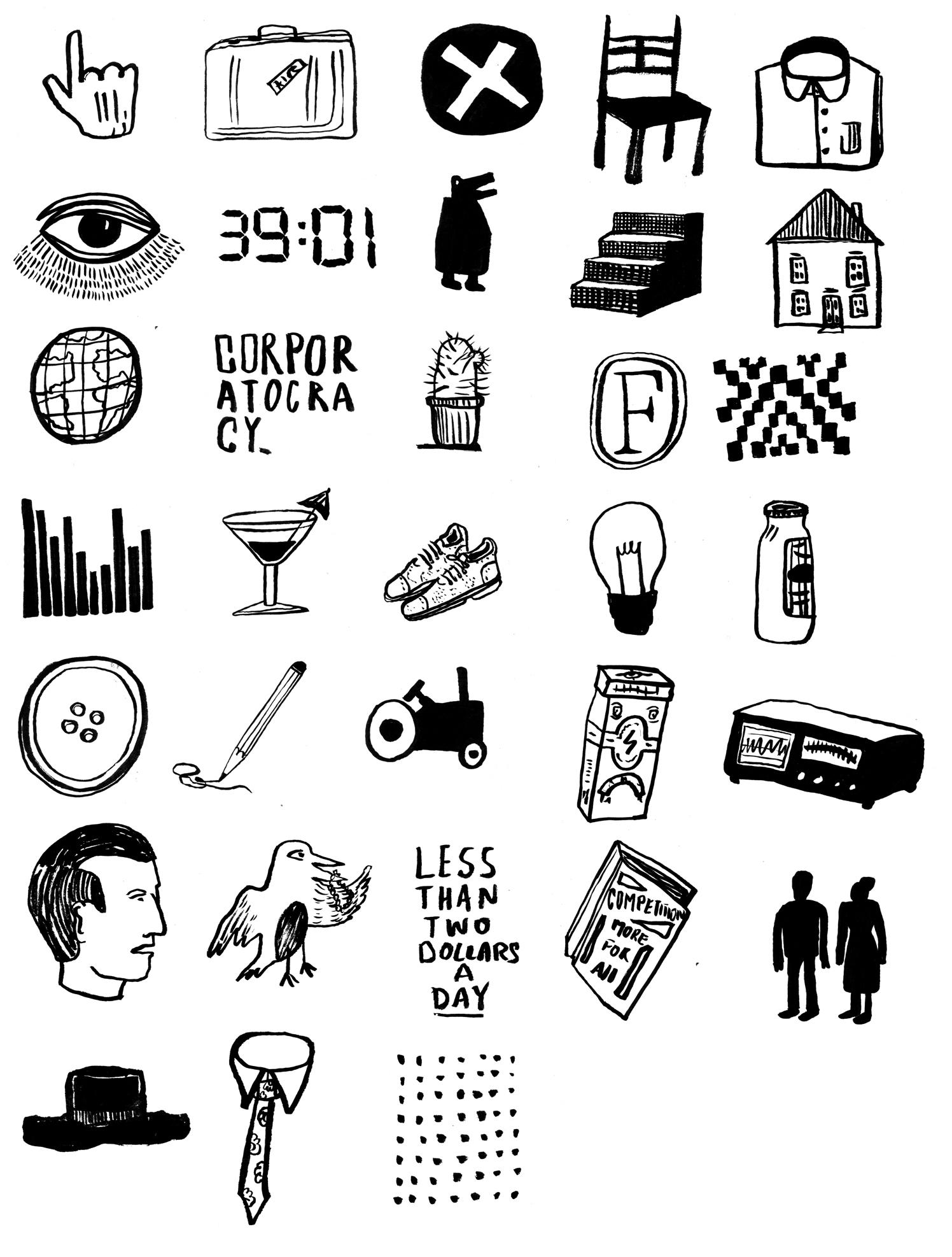Corporatocracy Icons
